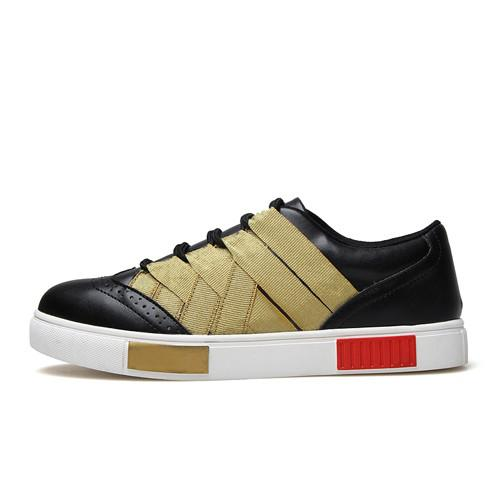 Men's Stripe Desiger Low Tops - TrendSettingFashions