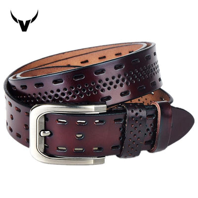 Men's Genuine Leather Designer Belt - TrendSettingFashions