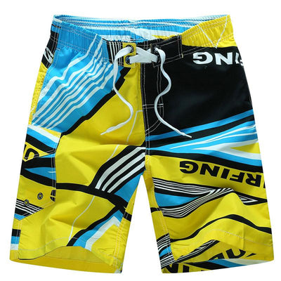 Men's Printed Board Surf Shorts With Quick Dry Feature - TrendSettingFashions   - 1
