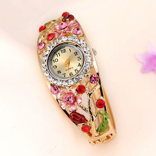 Women's Flower And Branch Glass Watch - TrendSettingFashions   - 1