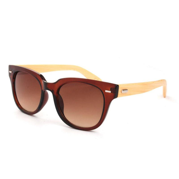 Men's Bamboo Round Sunglasses In 8 Color Options - TrendSettingFashions