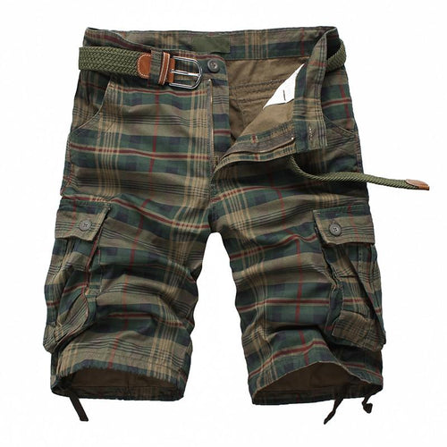 Men's Fashion Plaid Beach Shorts - TrendSettingFashions