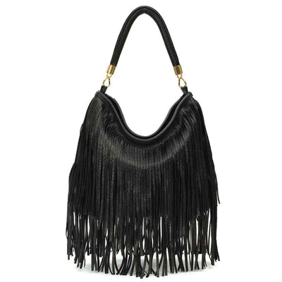 Women's Elegant Tassel Fringe Handbags Messenger Shoulder Bag Large Capacity 3 Colors - TrendSettingFashions