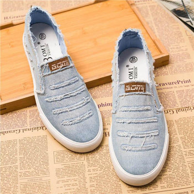 Men's Denim Fashion Slip On's - TrendSettingFashions