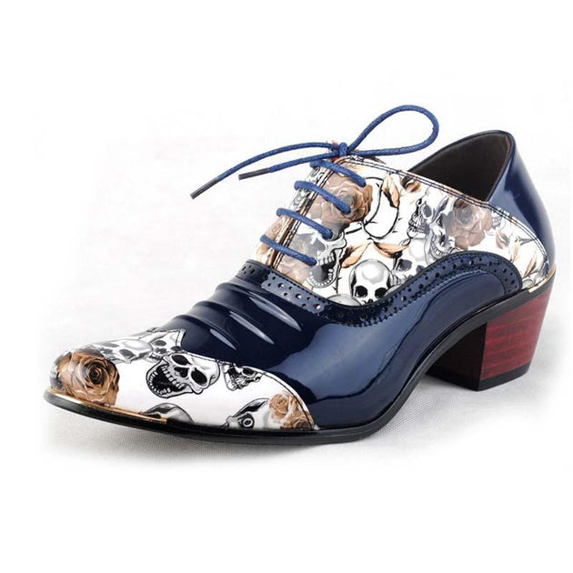 Men's Skull Oxfords - TrendSettingFashions