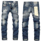 Straight Legged Mixed Blue Fashion Jeans - TrendSettingFashions