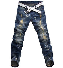 Men's Distressed Hole Jeans - TrendSettingFashions   - 1