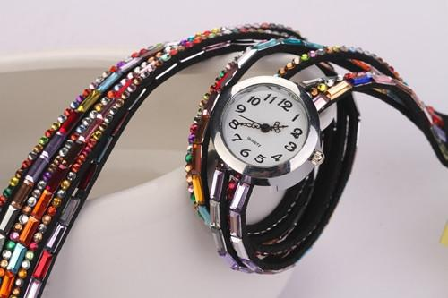 Women's Glass Jewel Watch With 9 Different Colors - TrendSettingFashions   - 3