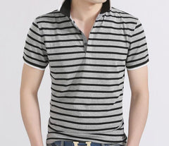 Men's Striped Summer Polo - TrendSettingFashions   - 1
