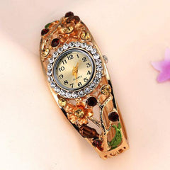 Women's Flower And Branch Glass Watch - TrendSettingFashions   - 2