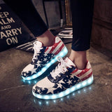 7 colored luminous shoes LED glow sneakers - TrendSettingFashions