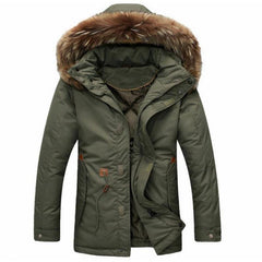Men's Thick Parka Hooded Jacket 2 Color Options - TrendSettingFashions   - 1