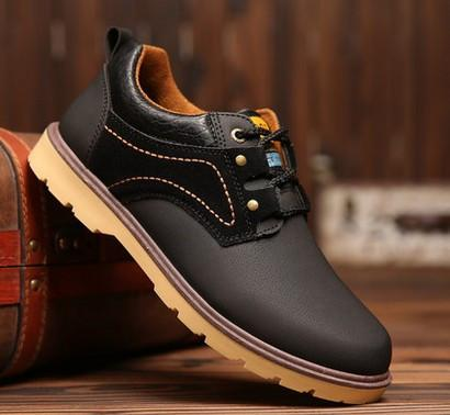 Men's Leather Fashion Low Top Boot - TrendSettingFashions