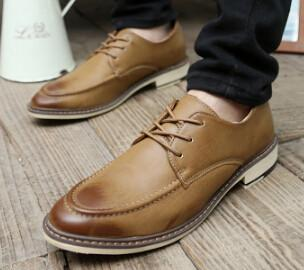 Men's Winter Padded Dress Shoes 4 Color Options - TrendSettingFashions
