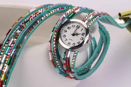 Women's Glass Jewel Watch With 9 Different Colors - TrendSettingFashions   - 8