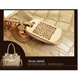 Women's 3 PCS/Set Crocodile Messenger Tote Set 4 Color Options - TrendSettingFashions