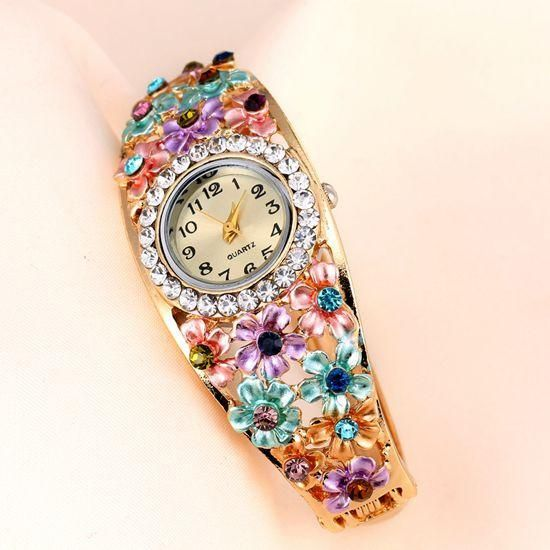Women's Beautiful Glass Flower Inspired Watch In 5 Colors - TrendSettingFashions   - 5