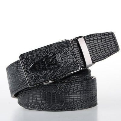 Crocodile Style Leather Belt! - TrendSettingFashions