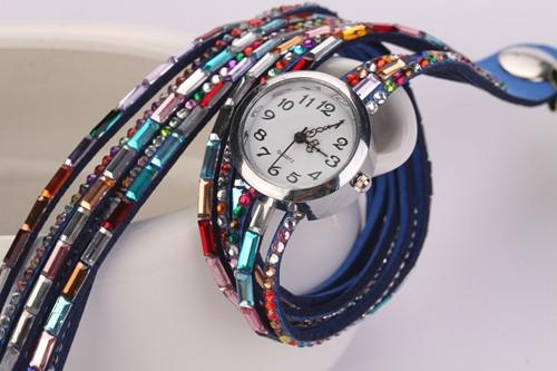 Women's Glass Jewel Watch With 9 Different Colors - TrendSettingFashions   - 5