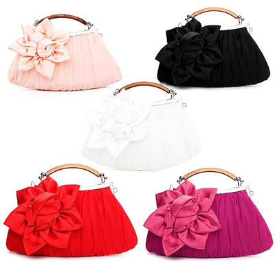 Women's Evening Flower Party Bag 5 Color Options - TrendSettingFashions