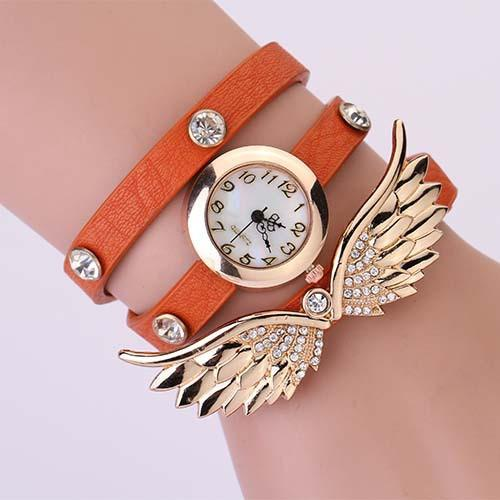 Women's Vintage Leather Strap Angel Wing Watch With 12 Colors! - TrendSettingFashions