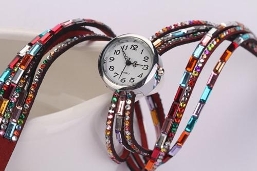 Women's Glass Jewel Watch With 9 Different Colors - TrendSettingFashions   - 4