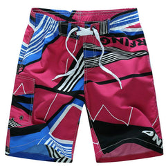 Men's Printed Board Surf Shorts With Quick Dry Feature - TrendSettingFashions   - 4