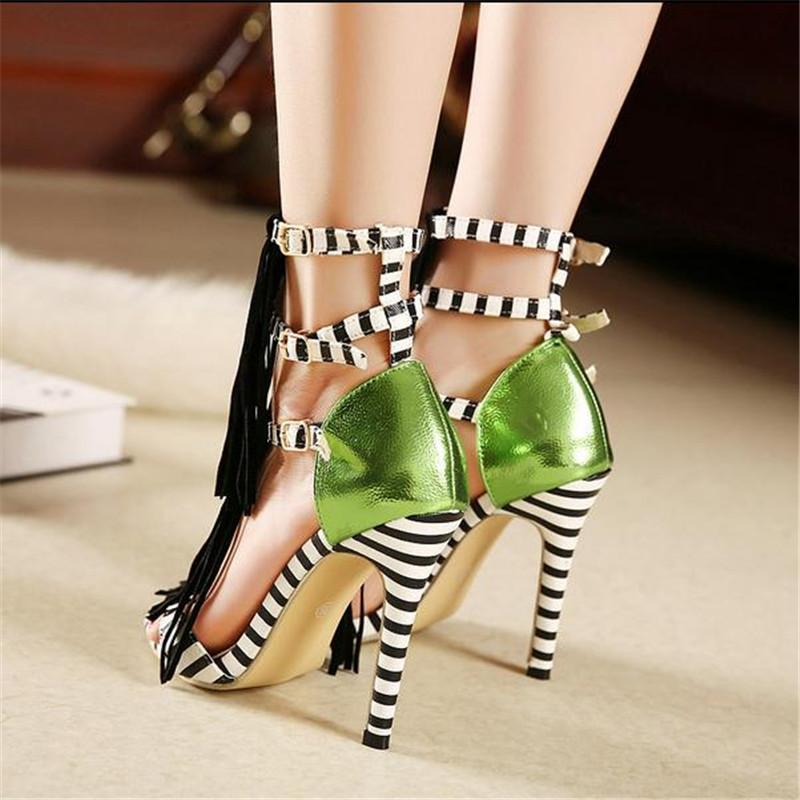 Women's Zebra Fashion Print Heels - TrendSettingFashions   - 4