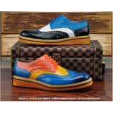 Men's Brogue Fashion Oxfords - TrendSettingFashions