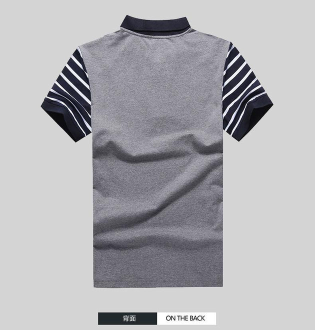Men's Striped Sleeve Polo - TrendSettingFashions