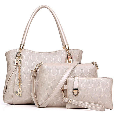 Women's 3 Bag Set 3 Color Options - TrendSettingFashions