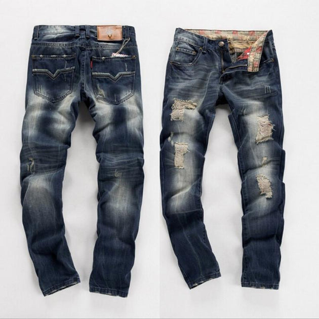 Men's Fashion Ripped Jeans - TrendSettingFashions