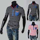 Men's Polo Striped Design - TrendSettingFashions