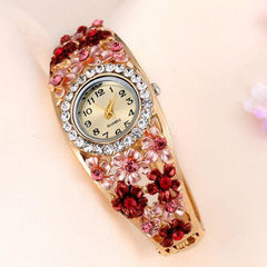 Women's Beautiful Glass Flower Inspired Watch In 5 Colors - TrendSettingFashions   - 1