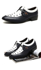 Businessman Leather Oxfords Fashion Pointed Dress Shoes - TrendSettingFashions   - 1