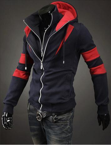 Men's Full Double Zip Hoodie - TrendSettingFashions   - 1