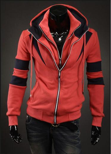 Men's Full Double Zip Hoodie - TrendSettingFashions   - 2