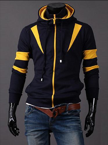 Men's Full Double Zip Hoodie - TrendSettingFashions   - 3