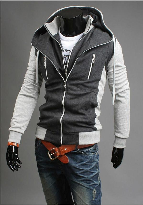 Men's Double Zip Up Hoodie - TrendSettingFashions   - 1