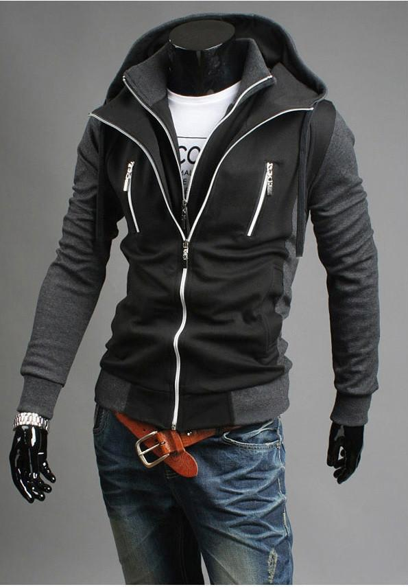 Men's Double Zip Up Hoodie - TrendSettingFashions   - 2