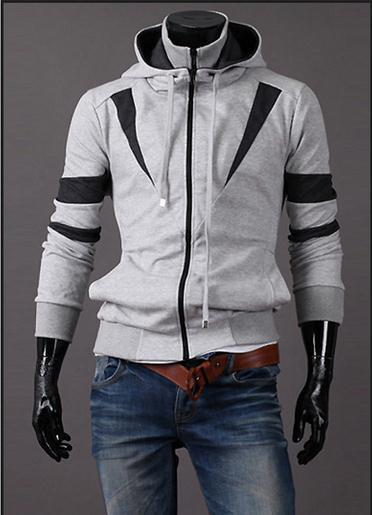 Men's Full Double Zip Hoodie - TrendSettingFashions   - 4