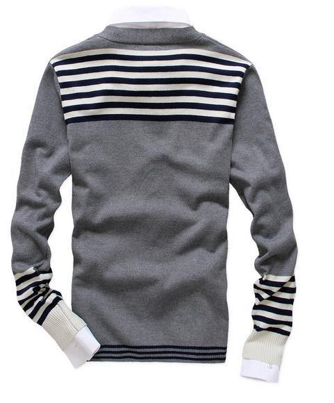 Men's Fashion Cardigan With Stripes - TrendSettingFashions   - 2