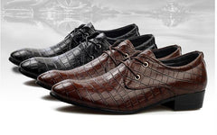 Crocodile Pattern Dress Shoes - TrendSettingFashions   - 1