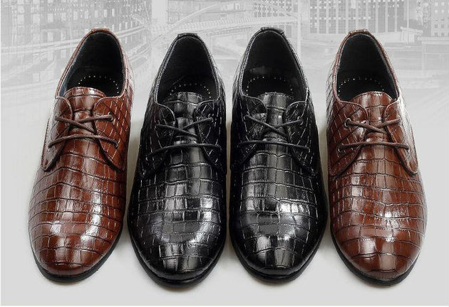 Crocodile Pattern Dress Shoes - TrendSettingFashions
