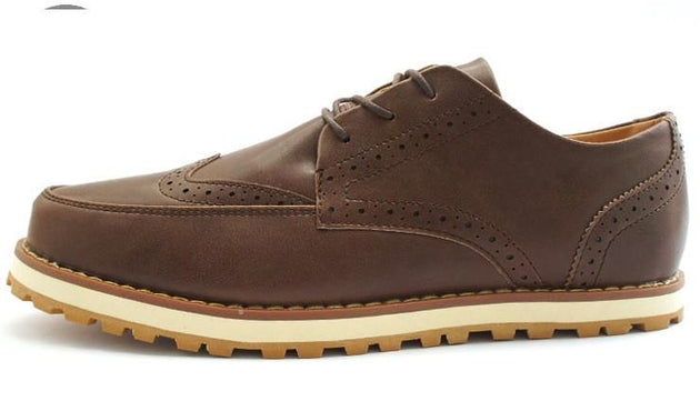 Leather Oxfords Fashion Bullock Dress Shoes - TrendSettingFashions