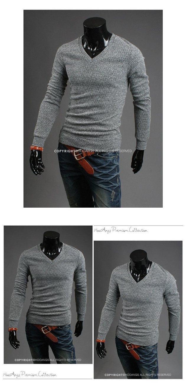 Men's V Neck Sweater - TrendSettingFashions