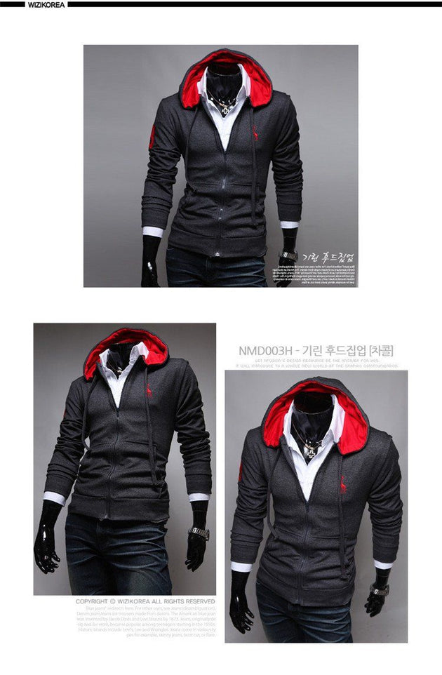 Men's Zip Up Hoodie Up To 3XL - TrendSettingFashions