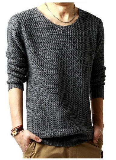 Men's Knit Sweater - TrendSettingFashions   - 2
