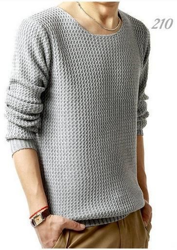 Men's Knit Sweater - TrendSettingFashions   - 1