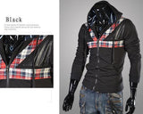 Men's High Collar Hoodie with a Flair - TrendSettingFashions